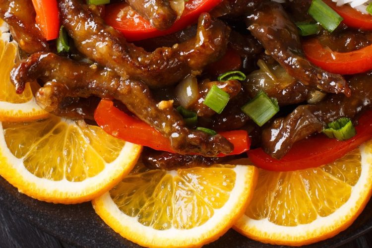 Chinese Beef Stir-Fry Recipe with Orange