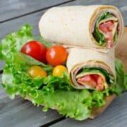 Keto Ham & Cheddar Wraps