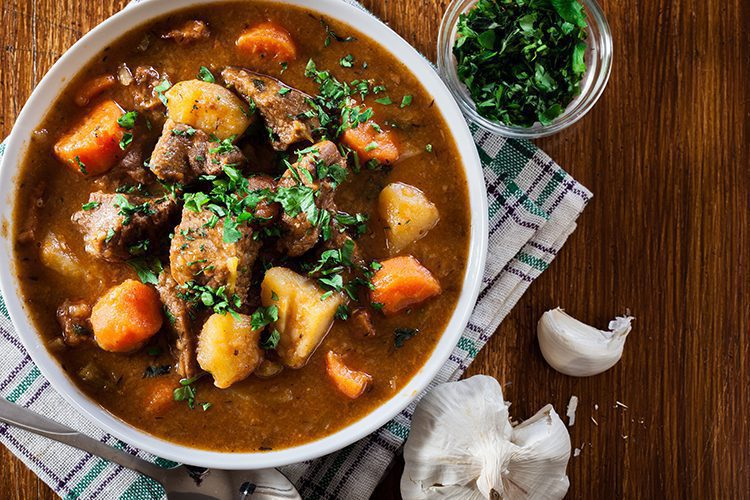 This keto beef stew is low carb with tender beef that melts in your mouth and perfectly cooked veggies. Gluten-free and perfect for anyone the low-carb ketogenic diet. #ketodiet #lowcarbrecipes #beefstew