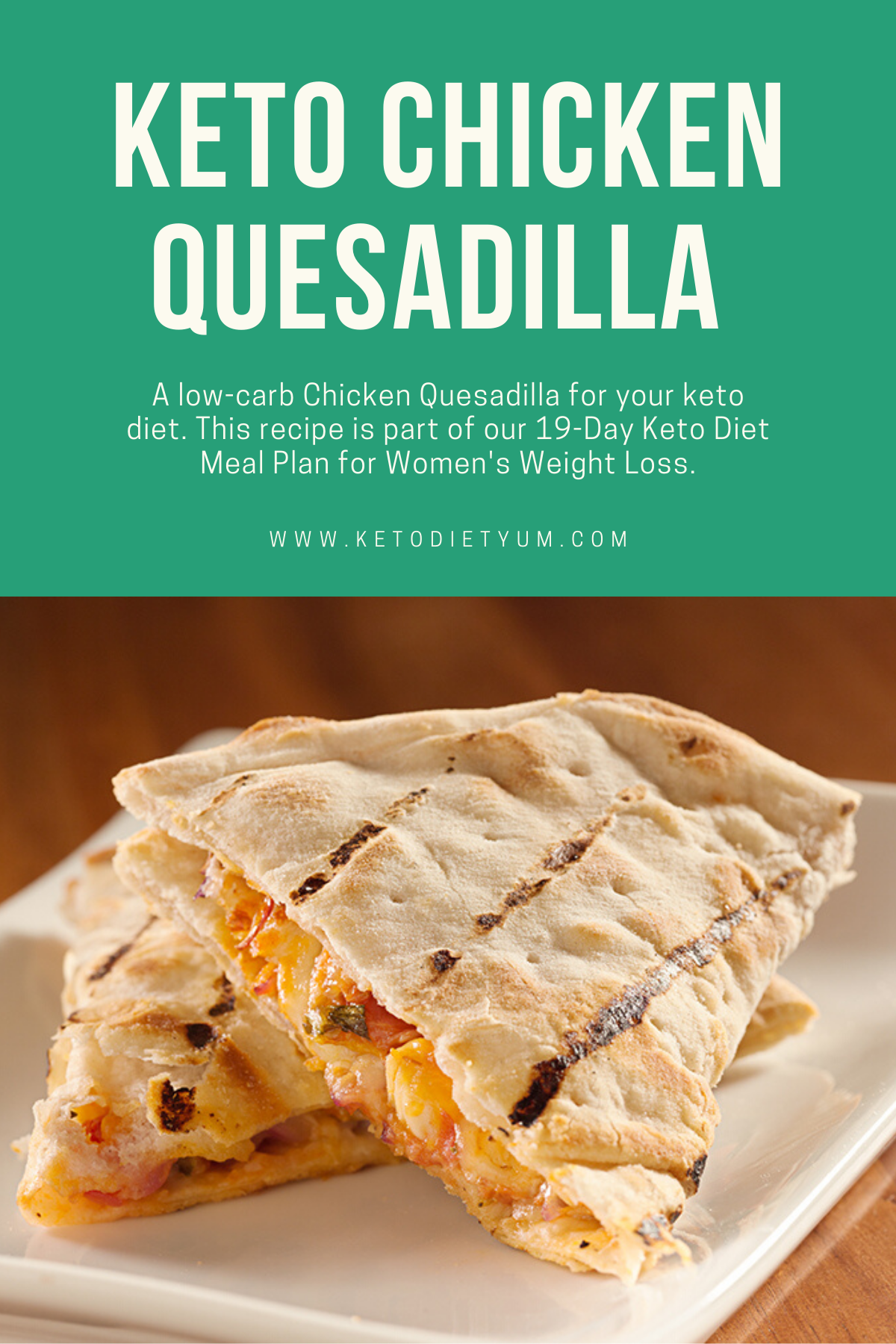 Oh my god! This low-carb Keto Chicken Quesadilla is one of my new favorite dinners. A creamy, delicious dinner you'll be sure to love! #ketodiet #ketorecipes #lowcarbrecipes