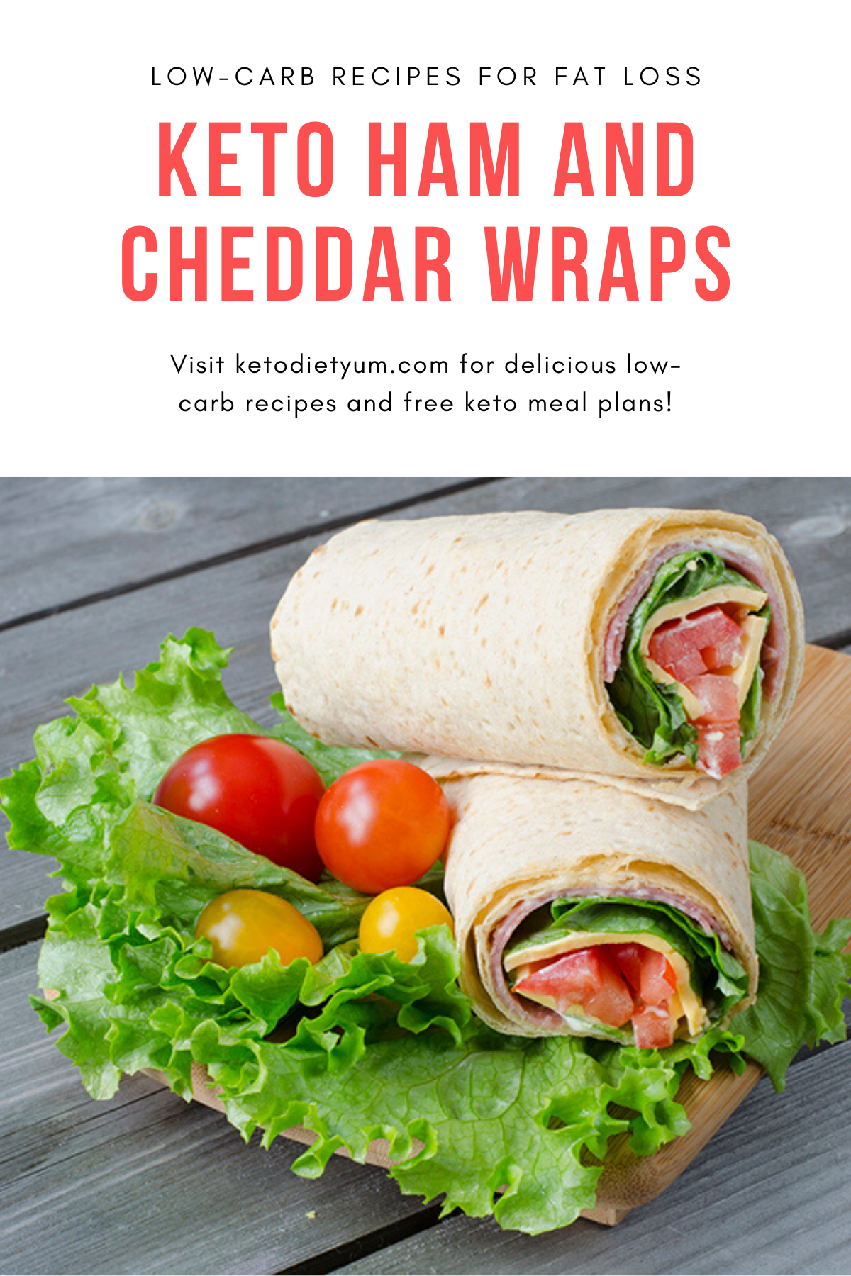 Keto Ham and Cheddar Wraps. These delicious ham and cheddar wraps are made with a low-carb keto-friendly wrap. A simple, quick and easy lunch or snack that will fit in well with your keto diet. #ketodiet #ketorecipes #lowcarbrecipes