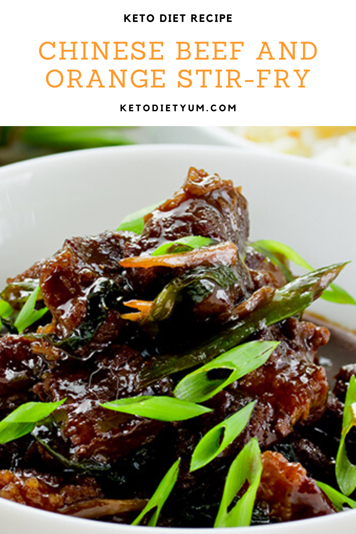 This Chinese beef stir-fry recipe is probably my favorite Keto recipe. Perfectly browned slices of steak coated with a tasty, thick and sticky sauce, yum! #ketodiet #ketorecipes #lowcarbrecipes