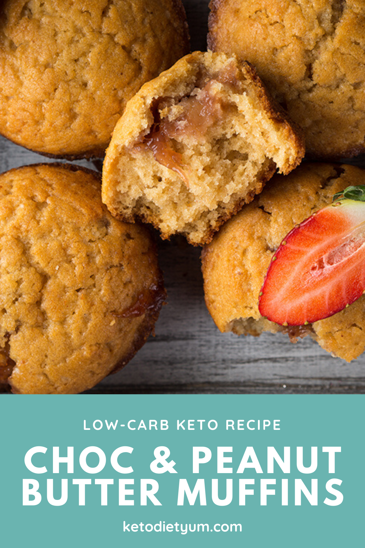 These low-carb chocolate and peanut and butter muffins are mouthwateringly good and super healthy. Full of creamy peanut butter chocolate flavor and chocolate chips, you won't even believe these muffins are keto! #ketodiet #ketorecipes #lowcarbrecipes