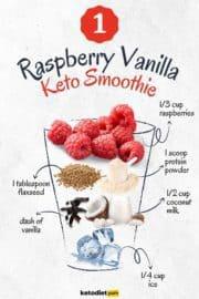 Raspberry Vanilla Keto Smoothie