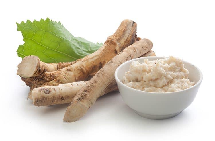 A bowl of horseradish