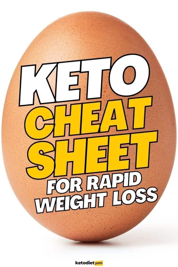 Keto Cheat Sheet To Lose 10 Pounds