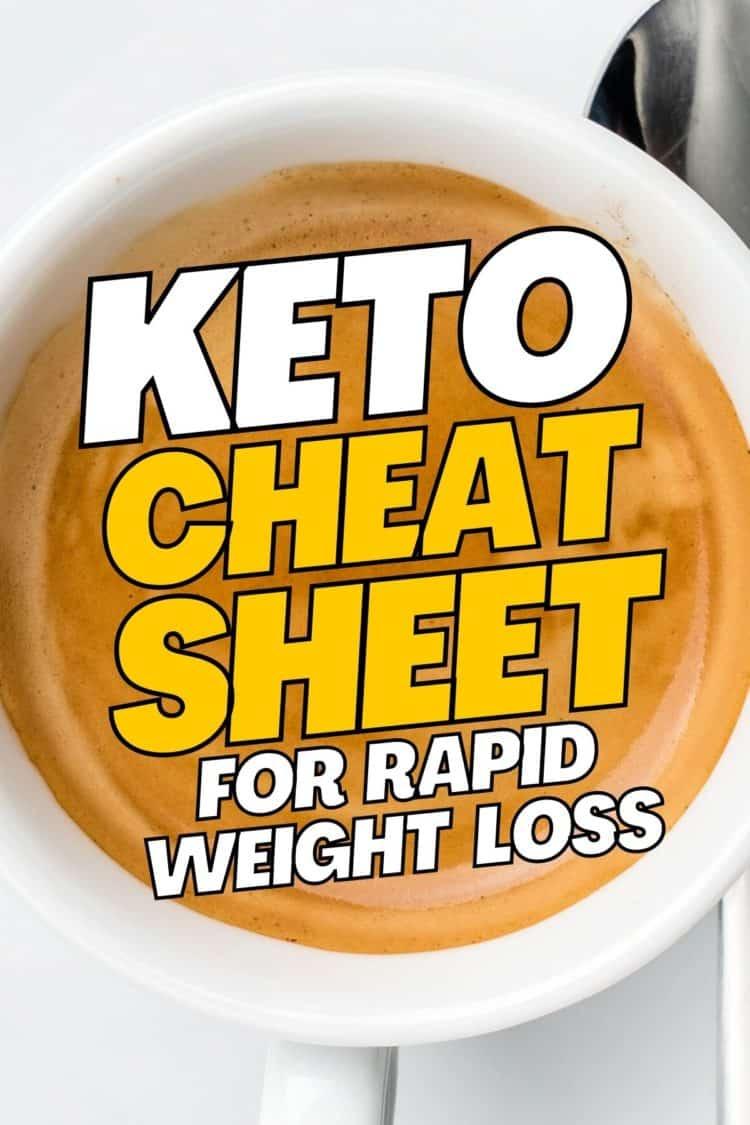 Keto Cheat Sheet for Weight Loss
