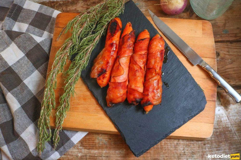 sweet and savory bacon wrapped carrots recipe
