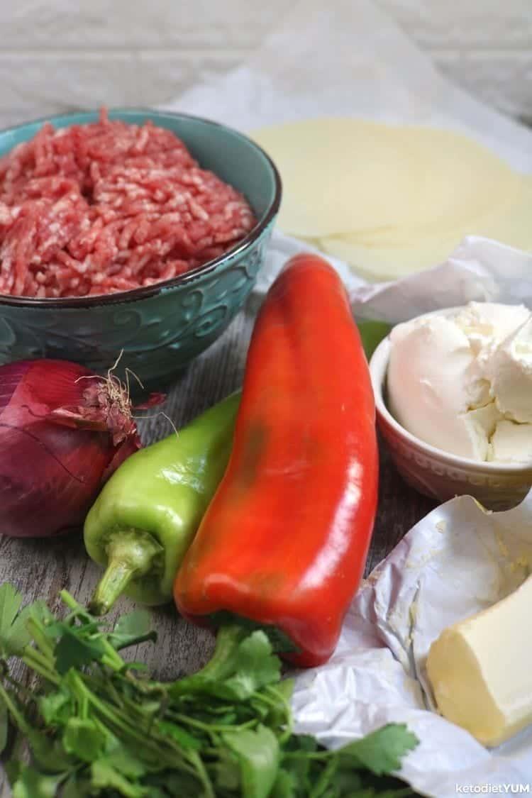 Keto philly cheesesteak casserole ingredients