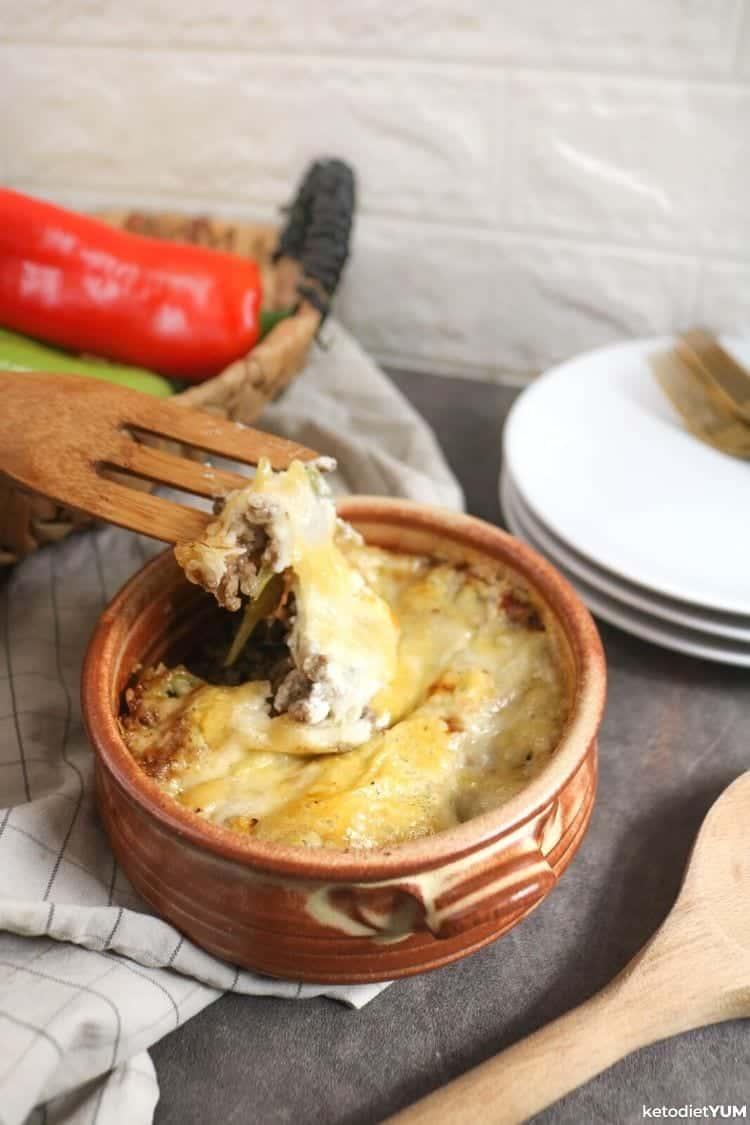 Keto philly cheesesteak casserole recipe