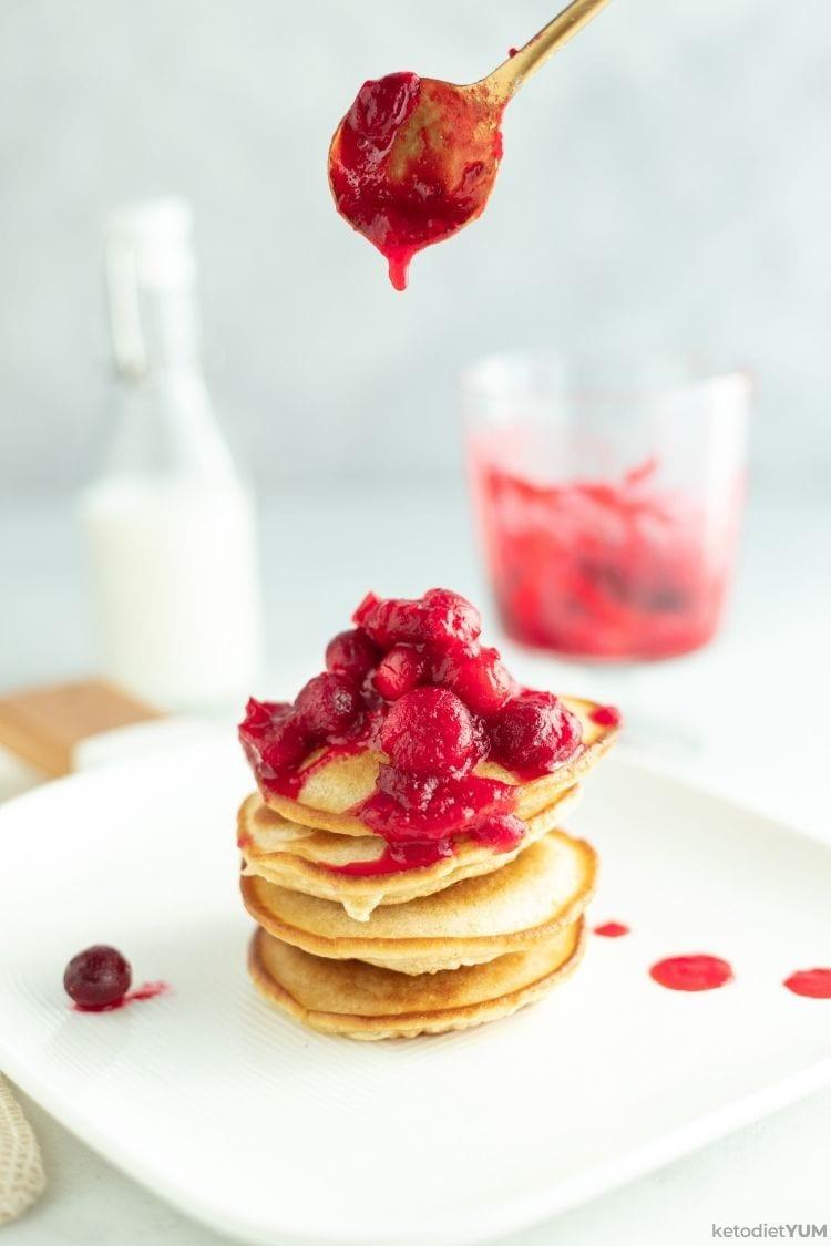 Best Keto Cranberry Pancakes