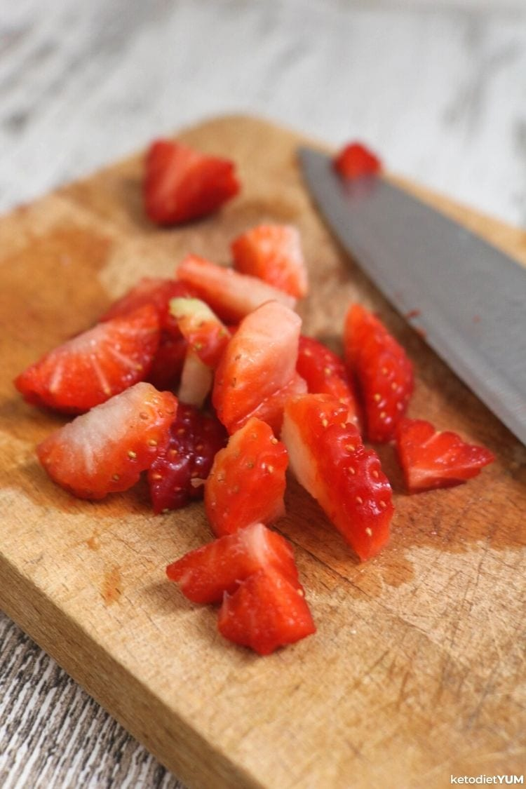 Strawberries for your Keto Pink Drink from Starbucks