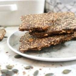 Best 4-Seed Crispy Keto Crackers