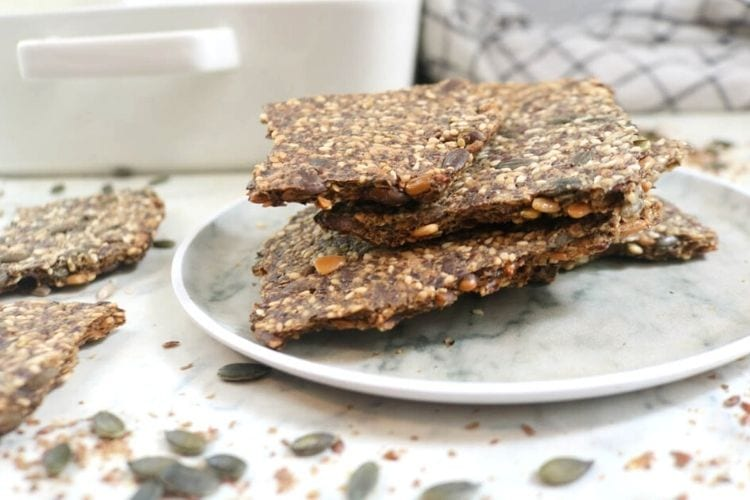 Best 4-Seed Crispy Keto Crackers
