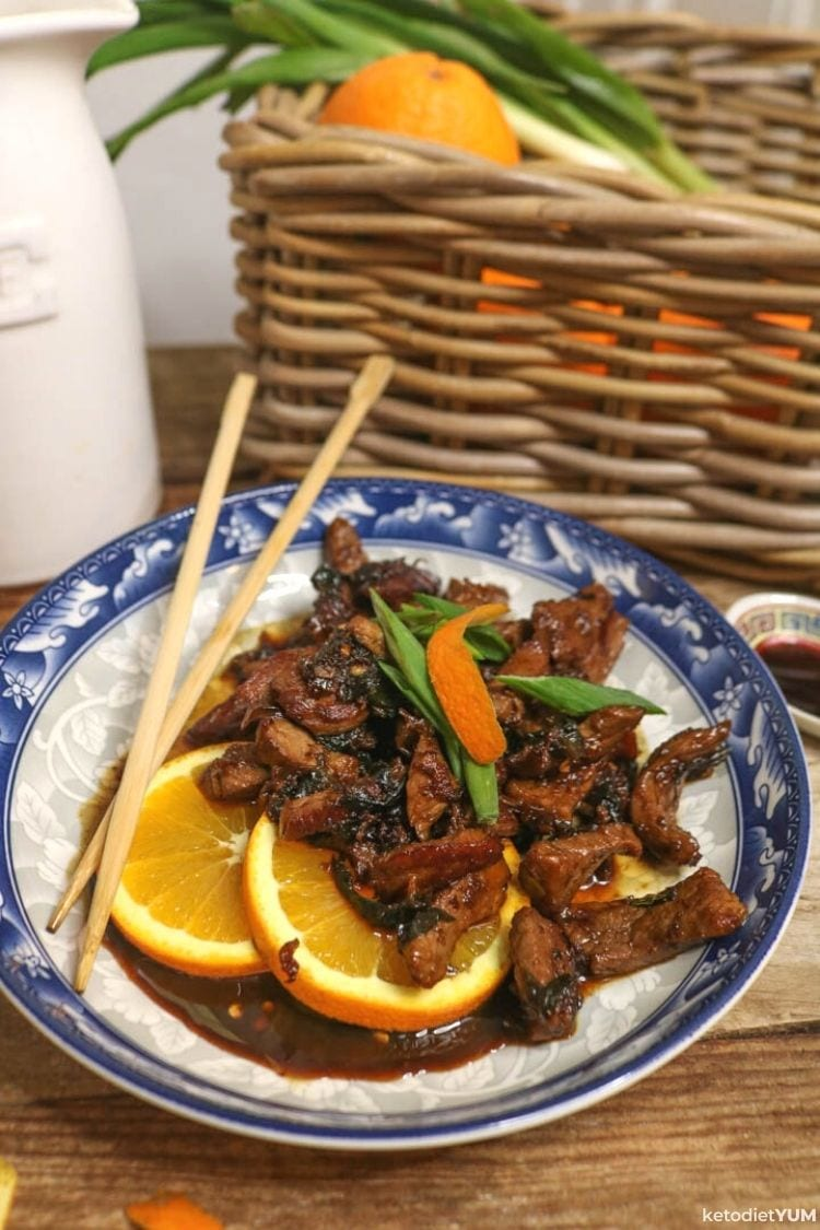 Keto Chinese Crispy Orange Beef Recipe