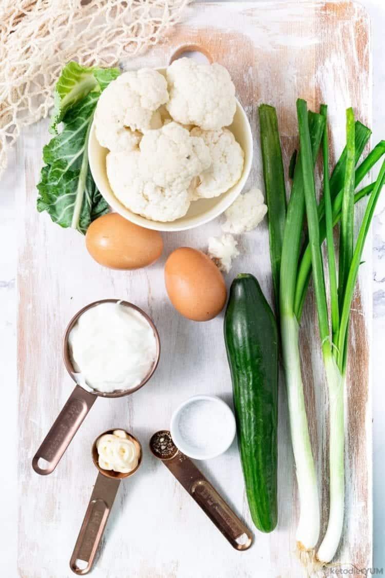 keto cauliflower salad ingredients
