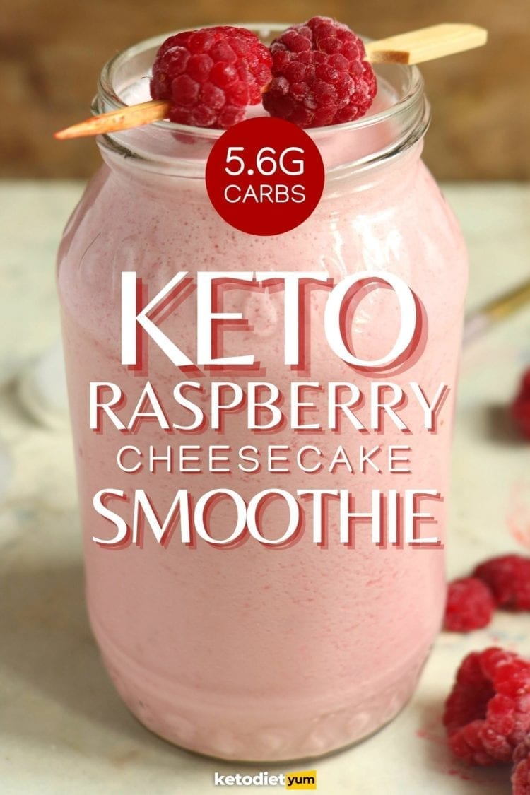 Keto Raspberry Cheesecake Smoothie Recipe