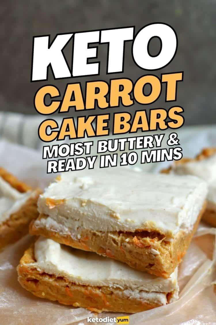EASY Keto Carrot Cake Bars Recipe