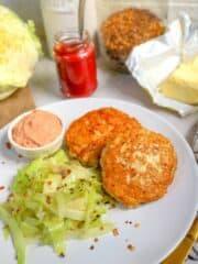 Keto Chicken Patties Recipe with Spicy Cabbage