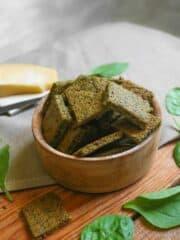 Keto Crispy Parmesan Spinach Crackers