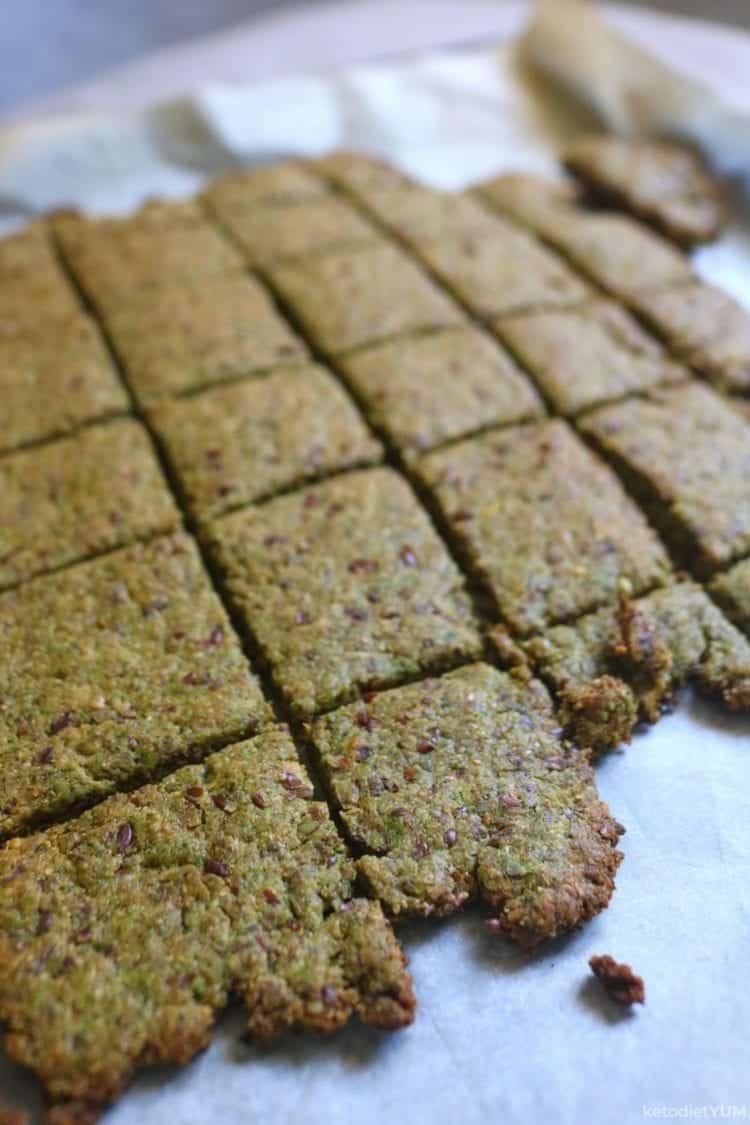 Crispy crackers ready to bake