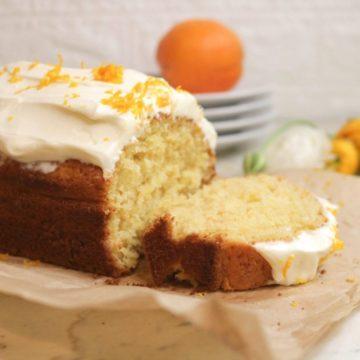 Keto Almond Flour Orange Cake