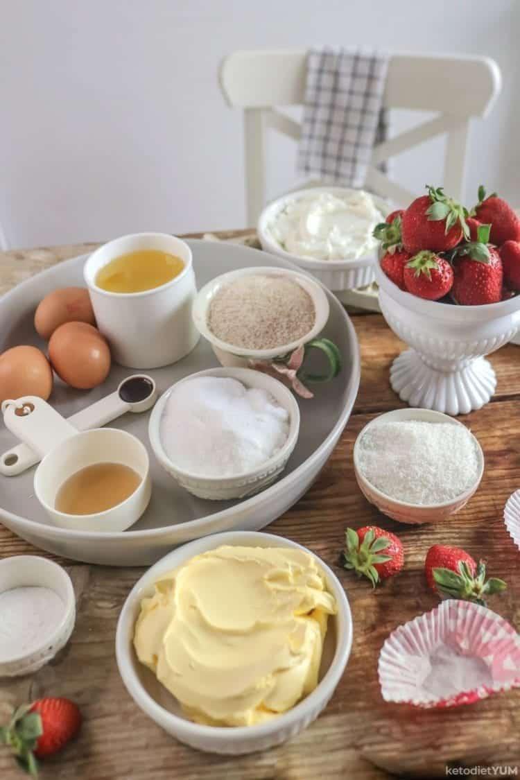 Low carb keto chocolate cupcakes ingredients