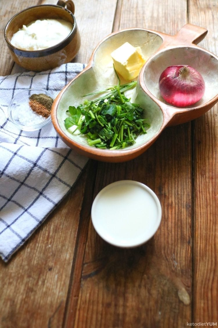 Keto French Onion Dip Ingredients