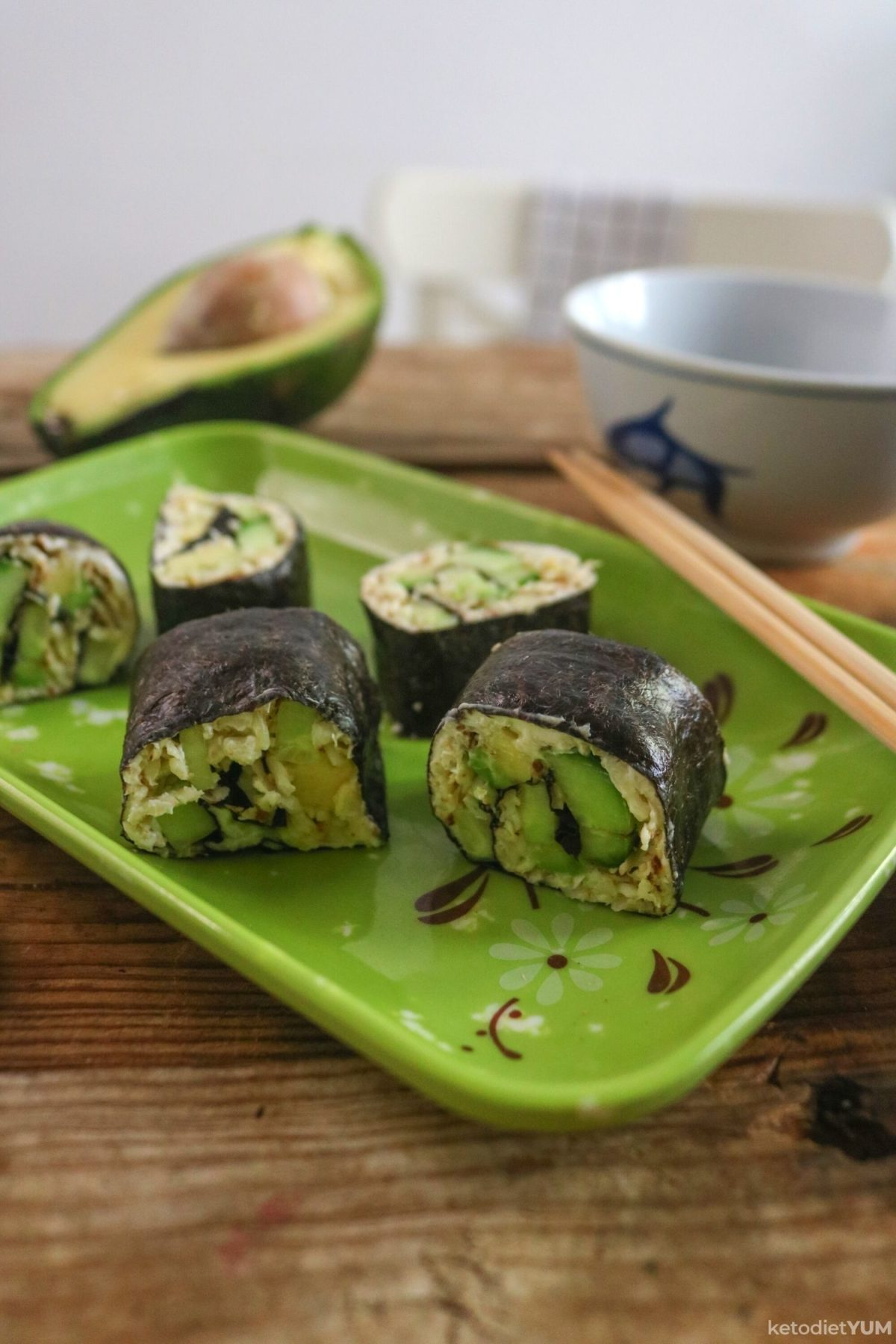 Keto Cauliflower Rice Sushi Rolls