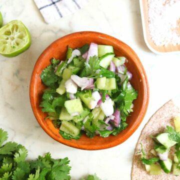 Easy Cucumber Salsa Recipe