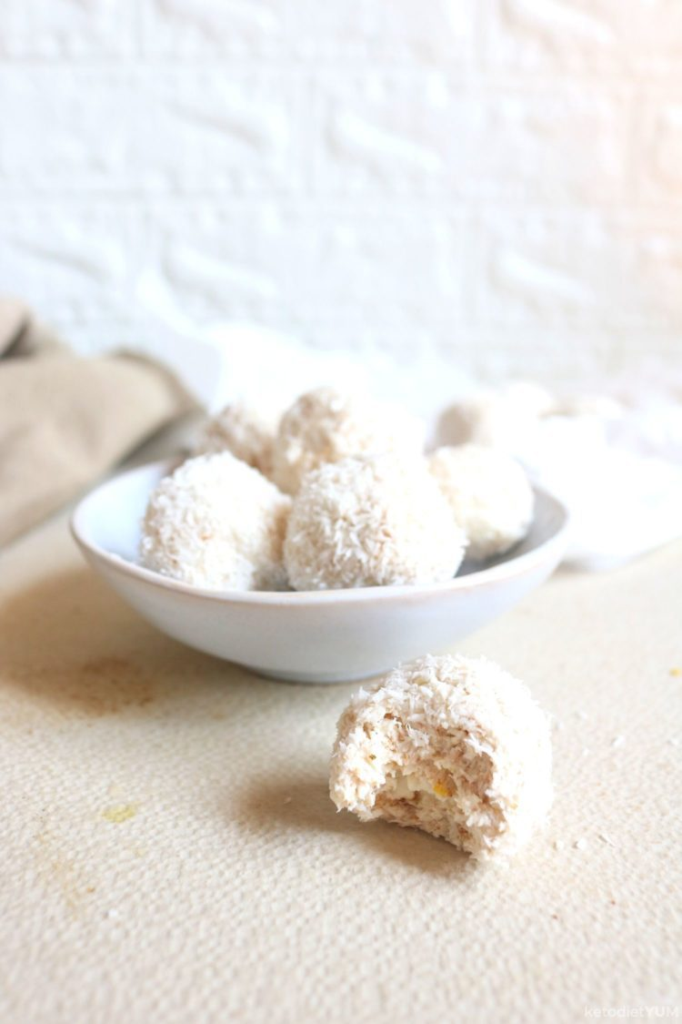 Delicious keto fat bombs with coconut
