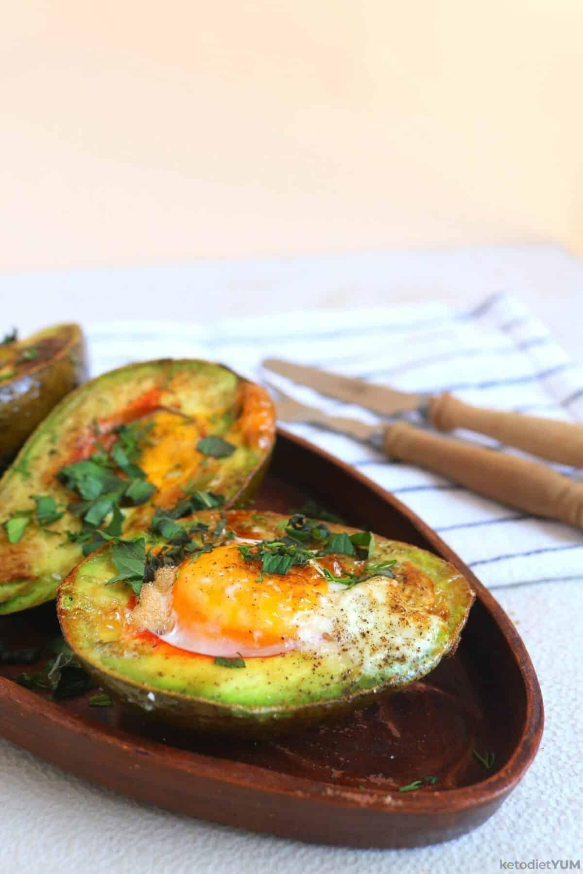 Baked Avocado Egg Boats Recipe